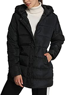 4How Women's Hooded Warm Jacket Winter Parkas