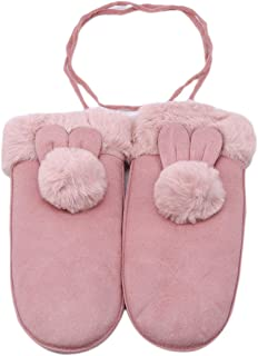 LALANG Winter Cute Full-finger Outdoor Sport Thick Warm Gloves Hanging Neck Mittens