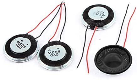 Uxcell a15080600ux0275 Metal Shell Round Internal Magnet Speaker 2W 8 Ohm (Pack of 4)