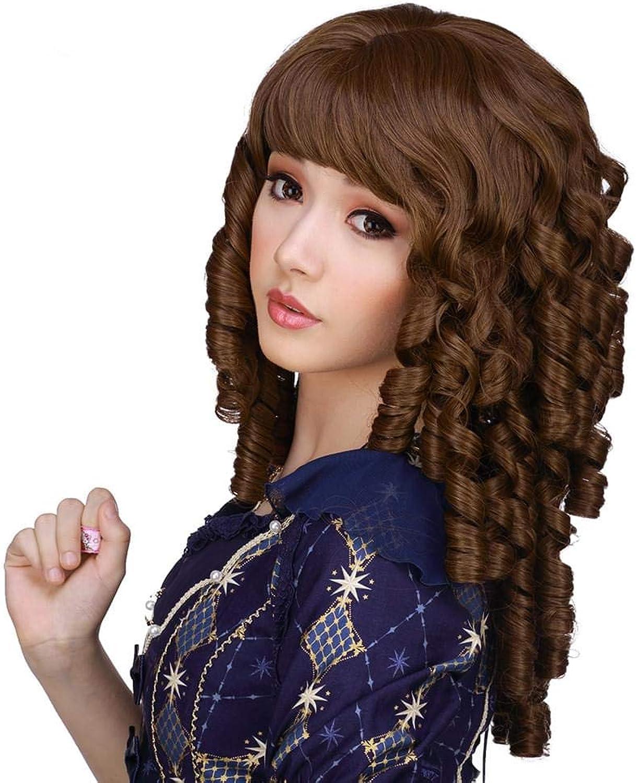 descuento de bajo precio RockEstrella Wigs Wigs Wigs Ringlet rojoux Chestnut marrón CosJugar Wig  bajo precio del 40%