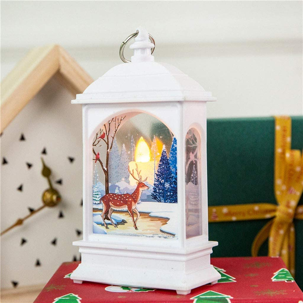 Vicbovo Clearance 2PCS Christmas Decorations Lights Vintage Xmas Candle with LED Tea Light Lampion Flame Lamp Fireless Candles Lamp Holiday Hanging Ornaments Gifts Decors