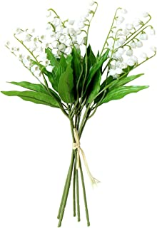 6PCS Artificial Lily of The Valley Flowers Arrangement Bundle for Wedding Bouquet Home Decor Garden Decoration White Wedding Artificial Flowers