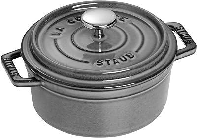 Staub Round Cocotte Oven, 0.5 quart, Graphite Grey