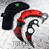 New Z-Hunter Red Zombie Fighting Karambit Two Piece ProTactical'US - Limited Edition - Elite Knife with Sharp Blade Set Curved Blade