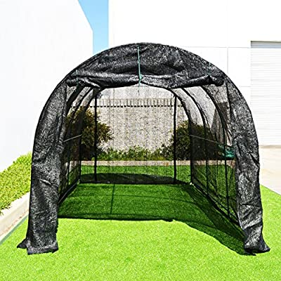 BenefitUSA New Hot GreenHouse Large Walk-In BLACK Greenhouse Outdoor Plant Gardening