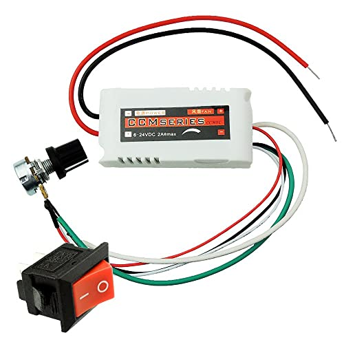 uniquegoods ccmfc 12v 2a dc motor speed controller adjustable variable speed  switch pwm dc voltage switching