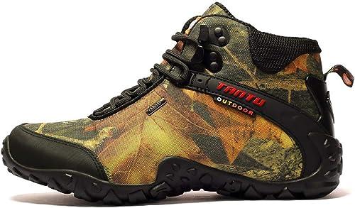MERRYHE Chaussures d'escalade pour Hommes Camouflage Chaussures de Sports de Plein air imperméables