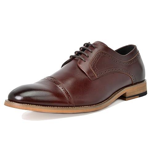 be6118d26948 Bruno Marc Men s Waltz Leather Dress Oxfords Shoes