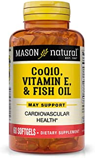 Mason Natural Vitamin, Co Q-10, Vitamin E and Fish Oil, 60 Softgels