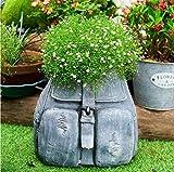 FCXBQ Macetas de jardín Talones Creativa Denim, Mochila Tiesto, Personalizado Vaquero decoración del jardín...