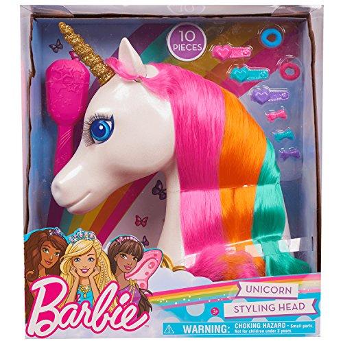 JP 62861 Barbie Dreamtopia Unicorn Styling Head, multicolore