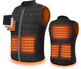 5V Heated Vest,USB Charging Electric Lightweight Body Warmer Clothes Washable Heating Pad Apparel Jacket for Men & Women Hiking, Hunting, Motorcycle, Camping (Battery Not Included)