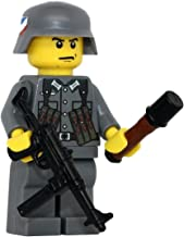 Modern Brick Warfare German WW2 MP40 Soldier Custom Minifigure