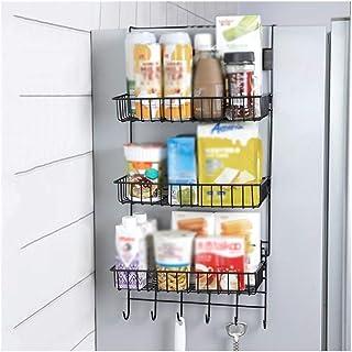 Accueil-Organisateur de Rangement Cuisine Cintre de Rangement Fer réfrigérateur étagère latérale Rack Multicouche Armoire ...