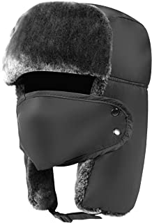 Trapper Hat Winter Hats for Men Trooper Hunting Ski Hat Women Ear Flap Windproof Mask