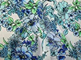 Minerva Crafts Chiffon-Stoff, knitterfrei, Meterware, Blau
