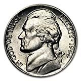 1944 P Wartime Silver Nickel About Uncirculated 5C