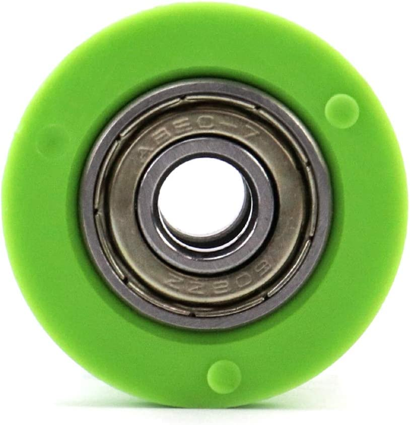 QWORK 10mm Pulley Chain Roller Slider Tensioner Wheel Guide for Pit Dirt Mini Bike Motorcycle ATV Green