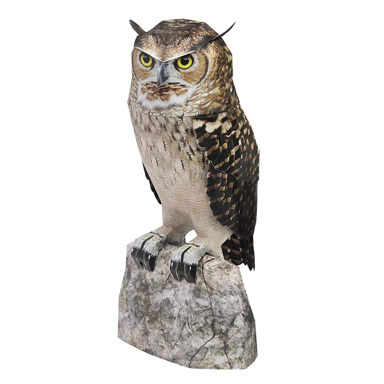 HAPPYPAPER Wild Animal Eagle owl Low Poly DIY Papercraft Puzzle Kit for Adults & Teens - NO Scissors Needed