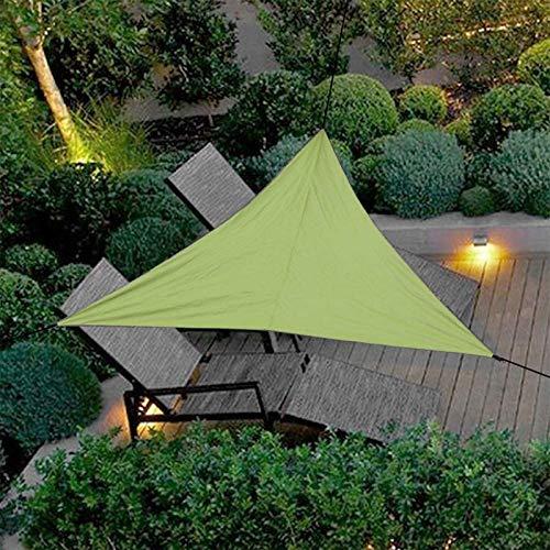 AXAA Toldo Triangular de Vela de protección Solar de 118 '' x 118 '' x 118 '', Cubierta Superior de pérgolas Verde Impermeable, Tela de Bloque UV Permeable Duradera al Aire Libre