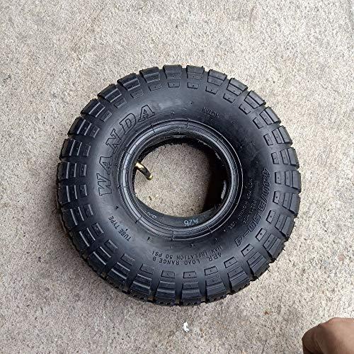 QINGRUI Durable Material 4,10/3.50-4 410/350-4 neumáticos de Caucho Macizo Kart 4,10-4 neumático Interior del Tubo 3,50-4 4' Scooter eléctrico Easy to Install