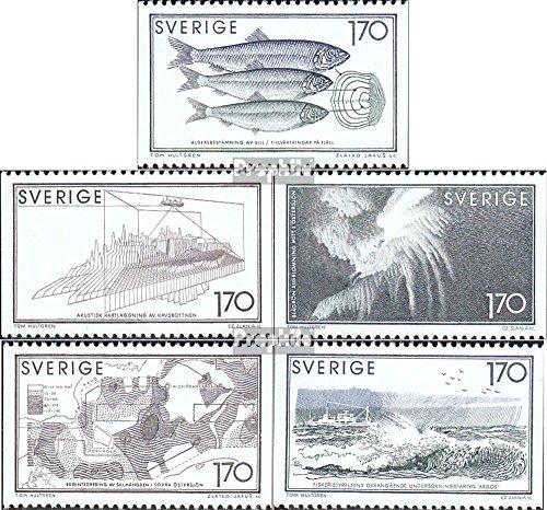 Sverige Mi.-nummer: 1082-1086 (komplett. utgåva) 1979 marina (frimärken för samlare) vattendjur