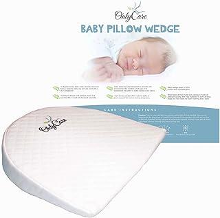 بالش گوه کودک OnlyCare   فوم مناسب برای نوزادان با لایه ضد آب و پوشش پنبه ای   Crib Sleep Positioner برای ریفلاکس و کولیک   بالش پشتیبانی بارداری 2019