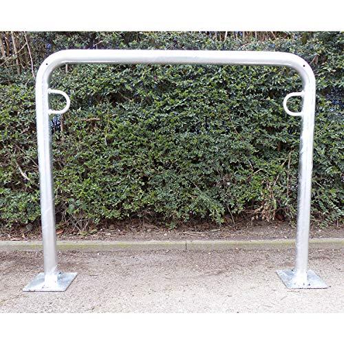 Arceau range-vélos 850 mm hors sol - à cheviller, galvanisé à chaud - en forme de U, longueur 1000 mm - Etrier Support cycles Support pour bicyclettes Support pour cycles Supports cycles Range-vélos Support-cycles Supports-cycles