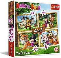 Puzzle 4w1 Lesne przygody Maszy