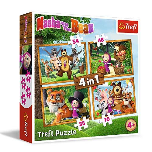 Masha y el Oso Trefl 4 en 1 207pcs. Puzzle