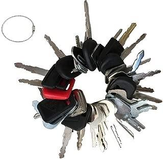 36 Key Set Construction Equipment Master Keys Set-Ignition Key Ring for Heavy Machines