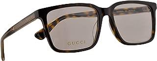 Gucci GG0385OA Eyeglasses 55-16-145 Havana w/Demo Clear Lens 002 GG 0385OA