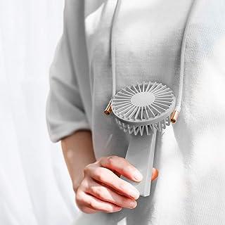 VENKIM 携帯扇風機 手持ち扇風機 首かけ扇風機 ハンディ小型 ミニ USB卓上扇風機 汎用型 (グレー)