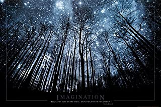 Buyartforless Imagination Keep Your Eyes on The Stars and Your Feet on The Ground Art Print Poster