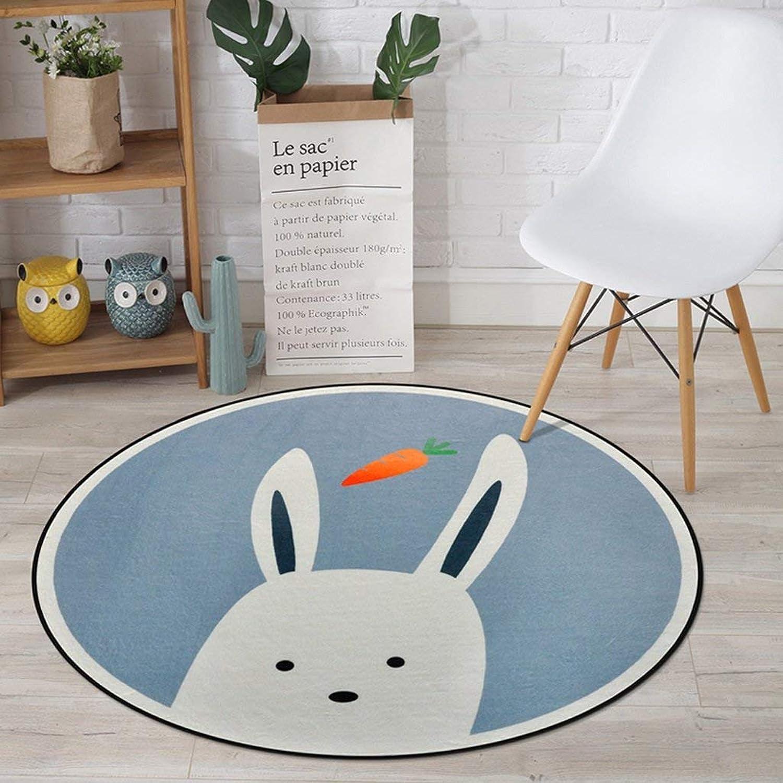 Royare Home Decorations mat Cartoon Cute Animal Bedroom Circular Hanging Basket Cloakroom Household Computer Chair (Size   Diameter80cm)