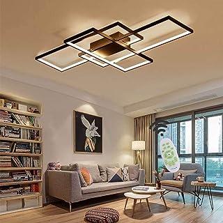 Jsz Luminaire Plafonnier LED Dimmable Salon Lustre Lampe avec Télécommande Moderne Plafond Plafond Creative Métal Acryliqu...