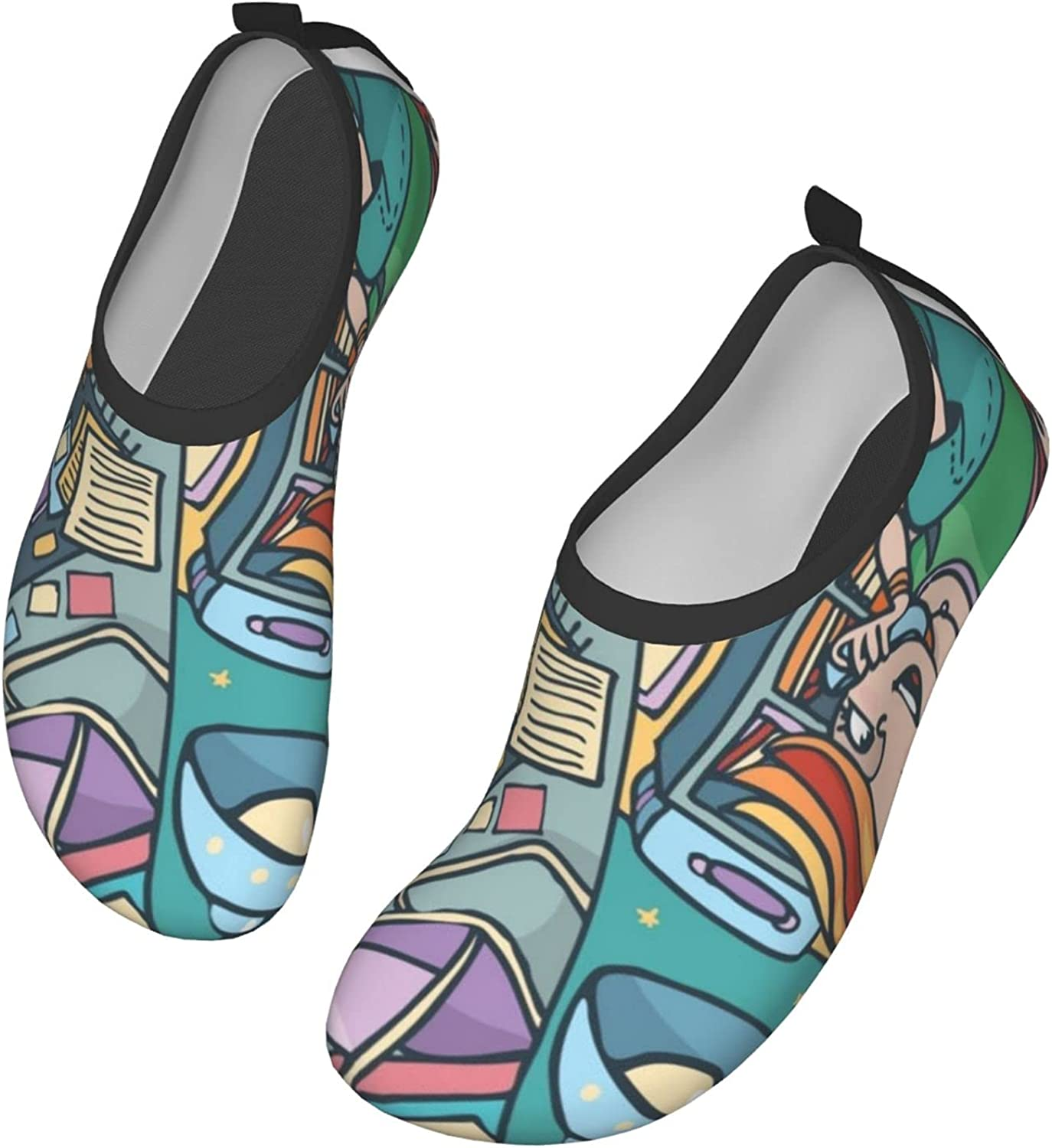 Girls On The Phone Water Shoes Women's Men's Outdoor Beach Swimming Aqua Socks Quick-Dry Barefoot Shoes Surfing Yoga Pool Exercise