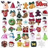 Gudotra 50pz Decorazione per Natale Miniature Natalizie Babbo Natale Albero di Natale Decorazioni di Regalo Biglietti d'Auguri