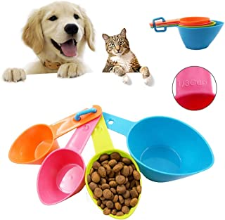 Bingcute Cat Dog Food Scoop Portion Control, for Healthy Pets, Assorted Colors, Pet Food Scoops Plastic Measuring Cups Set...