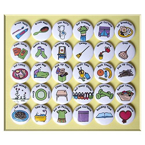 ILMS Chore Magnets for Little Kids (30 Piece Set)