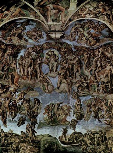 Michelangelo The Last Judgment Fresco Sistine Chapel Vatican City Cool Wall Decor Art Print Poster 24x36
