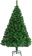 Green Pinecone Hinged Christmas Tree 1.5M 5FT Frost Green 900 Tips Bushy Hinged Branches Metal Stand Easy Assemble Chistma...