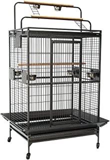 Flyline Classico Play Top Bird Parrot Cage for for Large Parrots, African Greys, Macaws, Cockatoos, Amazon Greys L110x W90...
