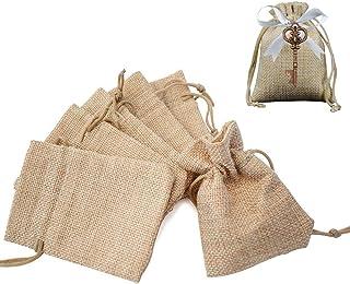 Gudotra 100pz Sacchetti Portaconfetti in Lin Bustina Bomboniere Confetti Sacchetti Regalo Natale per Matrimonio Battesimo ...