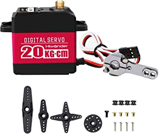 20KG Digital Servo Full Metal Gear High Torque, Aluminium Case for Robot DIY (Control Angle 180)