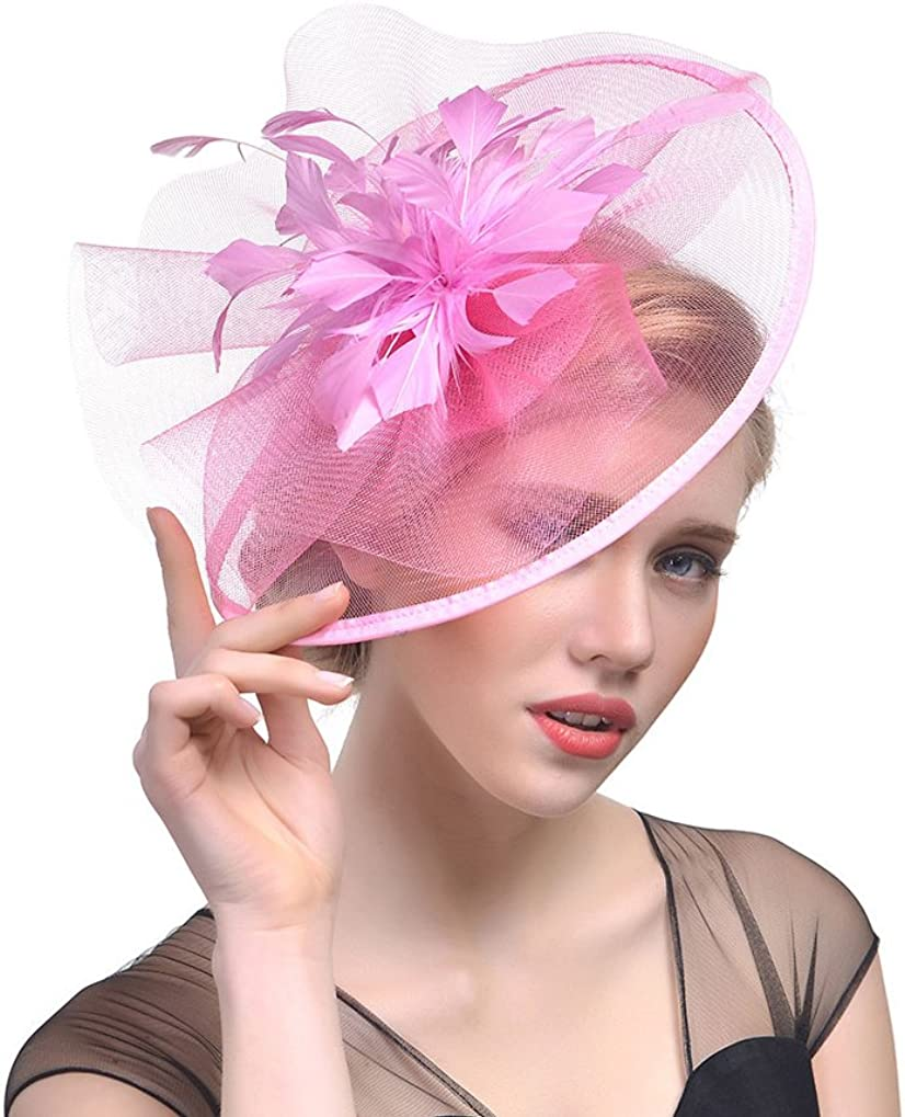 Eliffete Fascinator Hat for Women with Headband and Hair Clip Tea Party Headwear