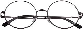 Retro Small Round Prescription ready Metal Large Eyeglasses Frame Clear Lens