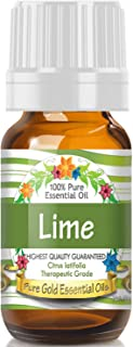 Pure Gold Lime Essential Oil, 100% Natural & Undiluted, 10ml