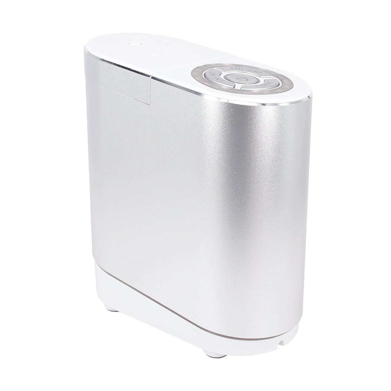 クリークコントロール放出LNSTUDIO アロマディフューザー ネブライザー式 2個30ML専用精油瓶付き アロマ芳香器 タイマー機能付 ミスト量調整可