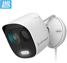 Amcrest SmartHome 1080p WiFi Outdoor Security Camera with Spotlight, Built-in Siren Alarm, Strobe Light, Two-Way Audio, Night Vision, 133° View, IP65 Weatherproof, MicroSD & Smart Cloud Storage, ADC2W